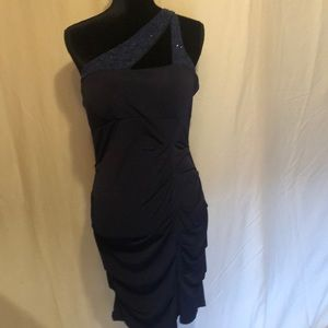 Sweet navy blue with sequins party dress size XL